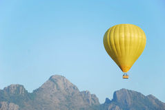 Yellow Balloon at Lao. Royalty Free Stock Photo