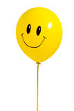 Yellow balloon with smile Royalty Free Stock Images