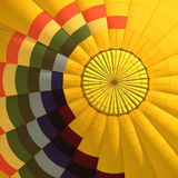 Yellow balloon. Balloon view from the below stock photo