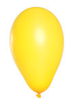 Yellow Balloon on white background Royalty Free Stock Photography