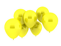 Yellow Balloons. Seven Party Balloons in yellow Color Royalty Free Stock Photo