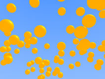 Yellow balloons. 3D Royalty Free Stock Images