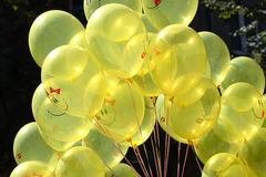 Yellow balloons. The Garland of yellow balloons Stock Photography
