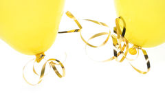 Yellow balloons Stock Photography