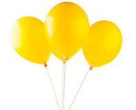 Yellow balloons Stock Image