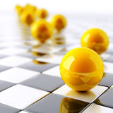 Yellow balls Royalty Free Stock Images