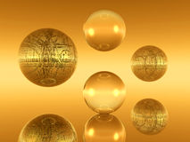 Yellow balls Royalty Free Stock Image