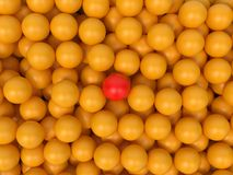 Yellow Balls - Abstract Background. Stock Photos