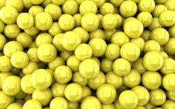 Yellow balls background (3d render). The Yellow balls background (3d render Stock Photography