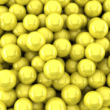 Yellow balls background (3d render). The Yellow balls background (3d render Royalty Free Stock Images