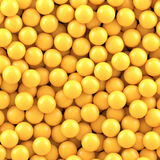 Yellow balls background Royalty Free Stock Images