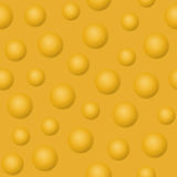 Yellow balls and bubbles vector illustration. Abstract background. Yellow balls, bubbles and spheres vector illustration. Abstract background seamless pattern Royalty Free Stock Photo