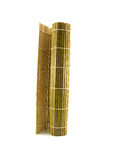 Yellow bamboo rug for a Japanese cuisine Royalty Free Stock Photo