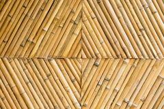 Yellow bamboo wall Stock Photos