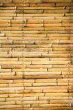 Yellow bamboo wall Royalty Free Stock Photos