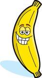 Yellow Banana. Cartoon Illustration of a Yellow Banana Royalty Free Stock Images