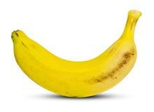 Yellow Banana. Fresh Yellow Banana  on White Background Royalty Free Stock Photos