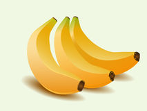 Yellow banana. Illustration of yellow banana with shadow Stock Images