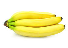 Yellow banana fruits isolated food Royalty Free Stock Image