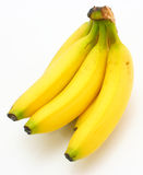 Yellow bananas. Apples and pears a still-life on a white background Stock Photo