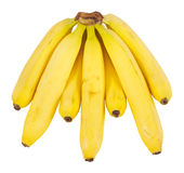 Yellow bananas. Some yellow bananas over a white background royalty free stock images