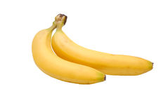 Yellow bananas. Some yellow bananas on a white background royalty free stock photography