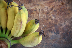 Yellow bananas fruit Stock Images