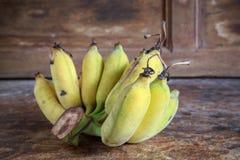 Yellow bananas fruit Stock Photos