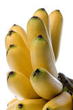 Yellow Bananas Isolated Stock Images