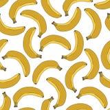 Yellow bananas. Seamless vector pattern. Royalty Free Stock Photos