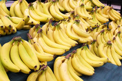 Yellow bananas. In shelves of supermarket Stock Photography