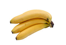Yellow bananas. Some yellow bananas on a white background royalty free stock photo