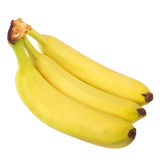 Yellow Bananas. On white background Stock Photography