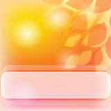 Yellow banner. Background with leaves and lights in yellow Royalty Free Stock Photography