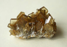 Yellow Barite crystal cluster Stock Image