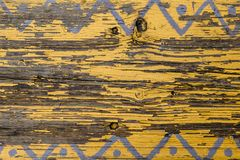 Free Yellow Barn Wooden Wall Planking Horizontal Texture. Old Wood Slats Rustic Shabby Empty Background. Paint Peeled Brown Weathered I Stock Image - 130390141