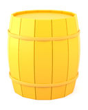 Yellow barrel Royalty Free Stock Image