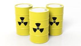 Yellow barrels for radioactive biohazard waste Royalty Free Stock Photo
