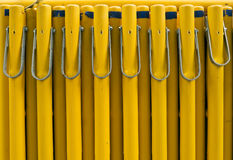 Yellow Barrier Security Objects Royalty Free Stock Photo