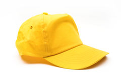 Yellow baseball cap royalty free stock images