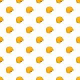 Yellow baseball helmet pattern, cartoon style Royalty Free Stock Image