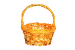 Yellow basket Royalty Free Stock Images