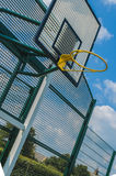 Yellow basket ball hoop Stock Photos