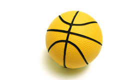 Yellow basketball Royalty Free Stock Photography