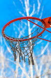 Yellow basketball backboard with ring Royalty Free Stock Image