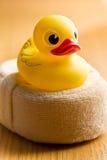 Yellow bath duck Stock Photos