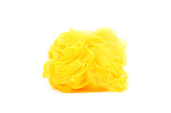 Yellow bath sponge or loufah Royalty Free Stock Photos