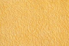 Yellow bath Towel Stock Image