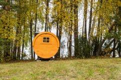 Yellow bathhouse Stock Photo