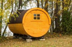 Yellow bathhouse Stock Photography